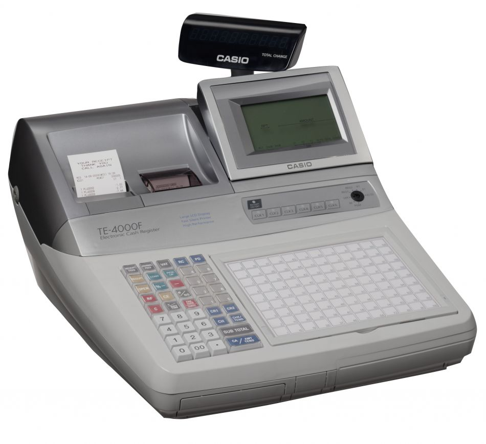Casio Te 4000 Cash Register Till From Discount Cash Registers